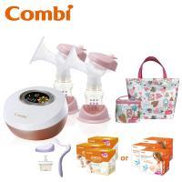 日本Combi 雙邊吸乳器+防溢乳墊*3盒+春漾收納包組