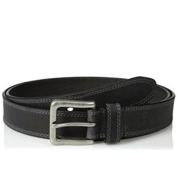 Timberland 2018男雙縫線古銀帶扣黑色大尺碼皮帶(預購)