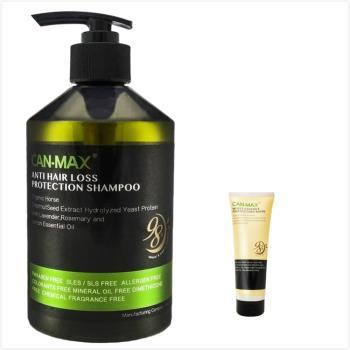 New義大利CAN-MAX康媚絲洗髮精(防止掉髮/控油清爽/乾損保濕)500ml*3+護髮霜(250ml)*1