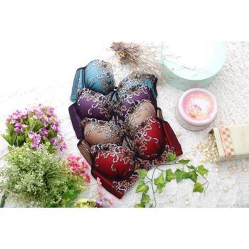 娜提珞法式華麗刺繡前拉胸罩-獨