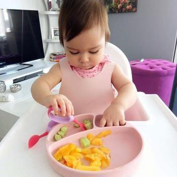 土耳其minikoioi-防滑矽膠餐盤-薔薇粉
