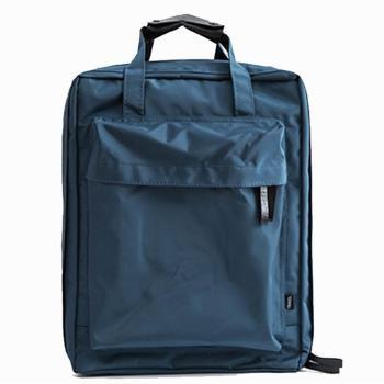 iSPurple 中性方型 旅行收納尼龍後背包 藍綠