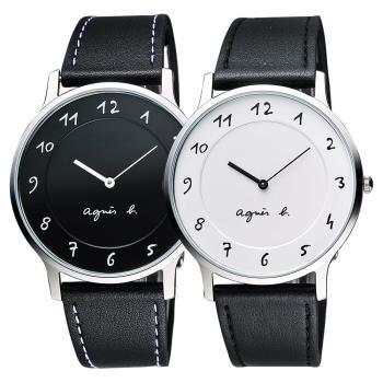 agnes b. 法國時尚藝術對錶-39mm VJ20-K240Z+VJ20-K240LB(BJ5005X1+BJ5004X1)