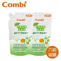 日本Combi 新奶瓶蔬果洗潔液補充包促銷組x6組