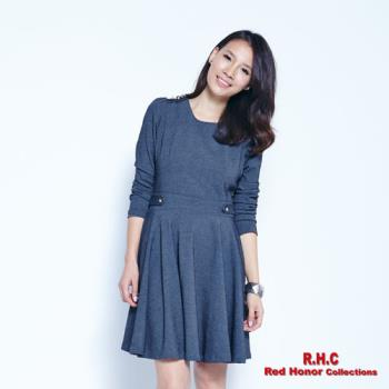 【R.H.C】英倫風率性圓裙洋裝
