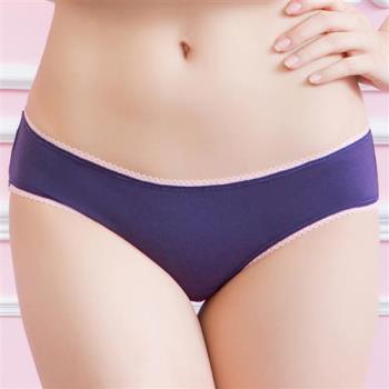 華歌爾 親膚棉簡單系列M-LL低腰三角褲(星空藍 )