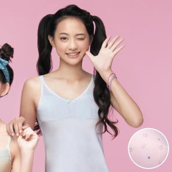 【嬪婷】學生系列晶球牛奶 M-3L 細帶長版背心(粉嫩紫)保濕抗菌消臭-學生成長第一階段-專利設計