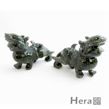 【Hera】嚴選招財納褔青玉貔貅(送錦盒)