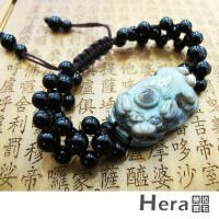 【Hera】天然波斯瓦納精雕迎財納福貔貅天眼手鍊(獨一無二)