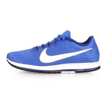 NIKE ZOOM STREAK 6 男女路跑鞋-慢跑 訓練 藍白