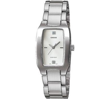 【CASIO】 清新時尚酒桶型指針腕錶-白面 (LTP-1165A-7C2)