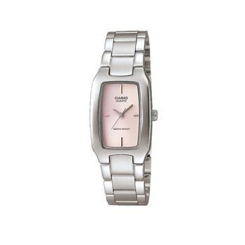 【CASIO】 清新時尚酒桶型指針腕錶-粉紅面 (LTP-1165A-4C)