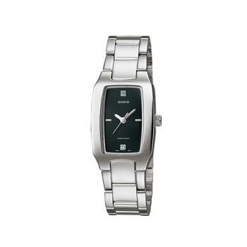 【CASIO】 清新酒桶型指針腕錶黑面-黑面 (LTP-1165A-1C2)