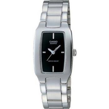 【CASIO】 清新時尚酒桶型指針腕錶-黑面 (LTP-1165A-1C)