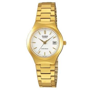 【CASIO】 時尚精緻小巧淑女腕錶-羅馬白面X金 (LTP-1170N-7A)