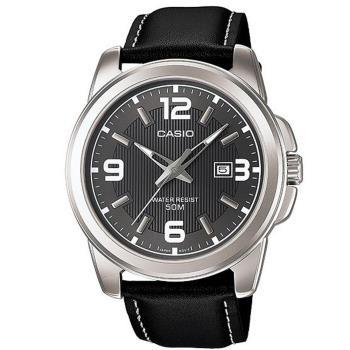 【CASIO】拼貼風 潮流男錶-黑面X黑錶帶 (MTP-1314L-8A)
