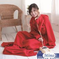 米夢家居~紅喜迎春100%台灣製造~輕柔懶人袖毯(懶人毯、袖毯、毛毯高雄現貨)