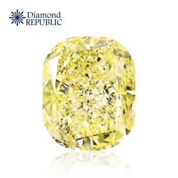 【鑽石共和國】GIA枕型天然黃彩鑽 0.45克拉 Natural Fancy Light Yellow / VS2