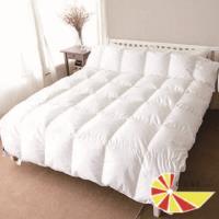 【凱蕾絲帝】台灣製造-帝王級(98%純絨)純天然立體純棉羽絨被-雙人6*7尺
