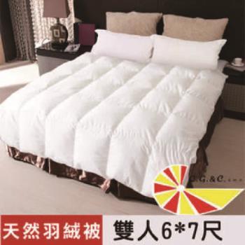 【凱蕾絲帝】台灣制造~專櫃級耐寒5℃100%純天然羽絨被(雙人6*7尺)~好評回購商品