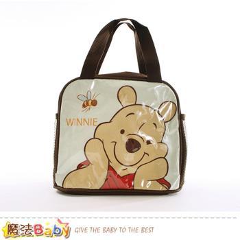 魔法Baby 便當袋 迪士尼小熊維尼授權正版提袋~f0255