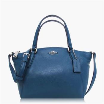 COACH 多種背法 卵石皮革 / 肩背 / 斜背兩用包(迷你款) 藍色