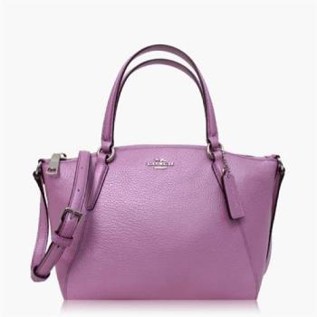 COACH 多種背法 卵石皮革 / 肩背 / 斜背兩用包(迷你款) 金屬紫