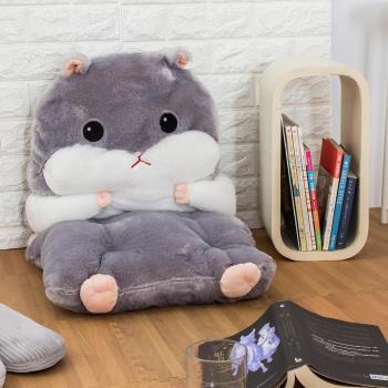 可愛倉鼠玩偶暖手枕抱枕坐墊組 4色可選