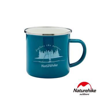 Naturehike 戶外旅行簡約風琺瑯杯 搪瓷杯 馬克杯 綠色