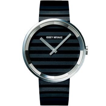 ISSEY MIYAKE 三宅一生 PLEASE時裝系列腕錶(黑/40mm) VJ20-0110C SILAAA01Y
