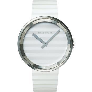ISSEY MIYAKE 三宅一生 PLEASE時裝系列腕錶(白/40mm) VJ20-0110W SILAAA02Y