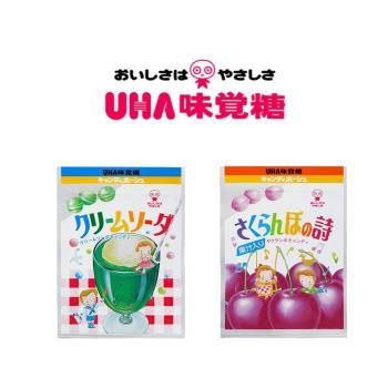 UHA 日本味覺糖-奶油蘇打糖+櫻桃糖共12包