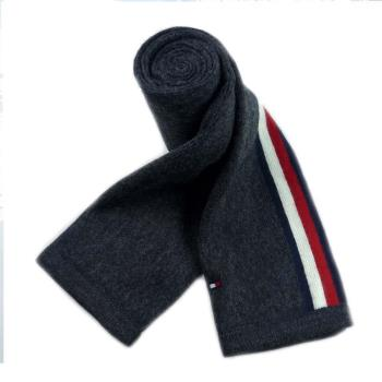 Tommy Hilfiger 黑灰圍巾+毛帽二件式組合