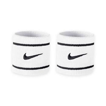 NIKE 單色腕帶-慢跑 籃球 網球 羽球 配件 白黑