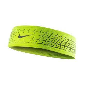 NIKE DRI-FIT 360反光頭帶 2.0-慢跑 路跑 瑜珈 螢光黃銀