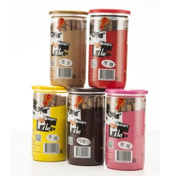 黑師傅捲心酥 200g x3罐-巧克力/草莓/花生/牛奶/黑糖