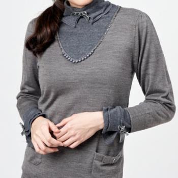 【KIINO】氣質串珠設計針織上衣0102-1832