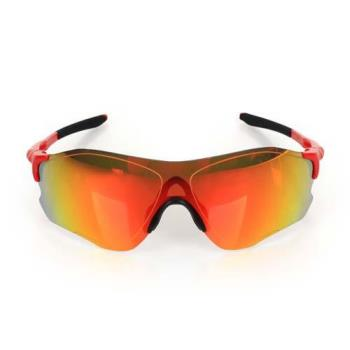 OAKLEY EVZERO PATH 道路專用太陽眼鏡-附硬盒鼻墊 慢跑 單車 黑紅金