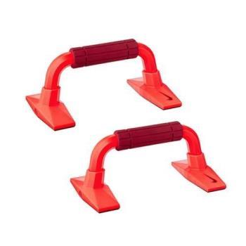 NIKE 握把-伏地挺身 健身 有氧 肌肉訓練 一盒2入 磚瓦紅橘