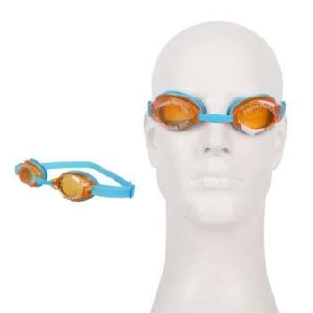 SPEEDO JET男女童泳鏡-游泳 戲水 蛙鏡 抗UV 防霧鏡片 藍橘