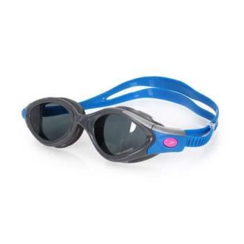 SPEEDO FUTURA BIOFUSE成人女用進階偏光泳鏡-蛙鏡 游泳 訓練 戲水 藍灰