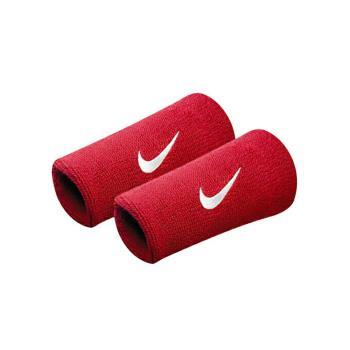 NIKE SWOOSH 加長型 運動腕帶-籃球 網球 排羽球 一雙入 紅白