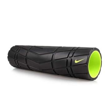 NIKE 輔助滾筒-長度20吋-瑜珈柱 瑜珈滾輪 按摩滾輪 訓練 塑身 健身 黑螢光綠