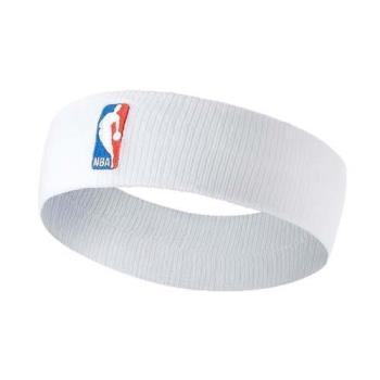 NIKE NBA DRI-FIT 單色頭帶-客場-髮帶 慢跑 一只入 籃球 飛人喬丹 白紅藍