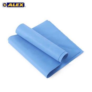 ALEX 伸展彈力帶厚度0.65MM-瑜珈繩 健身阻力帶 彈力繩 拉力帶 訓練帶 藍