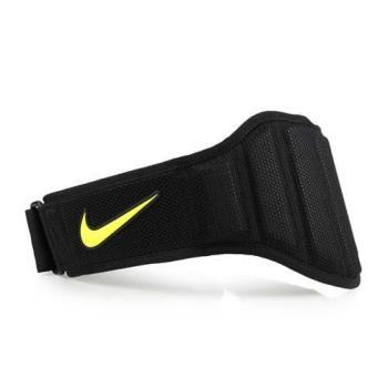 NIKE 舉重訓練腰帶 2.0-男用-健身 運動 保護 黑螢光黃