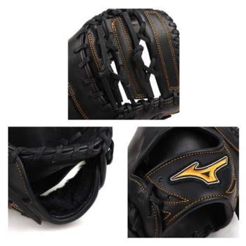 MIZUNO 硬式一壘手手套-右投 棒球 壘球 美津濃 黑