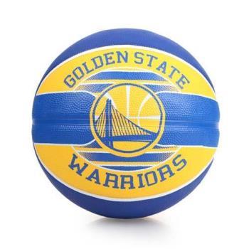 SPALDING 勇士 WARRIORS 籃球-戶外 NBA 隊徽球 斯伯丁 藍黃