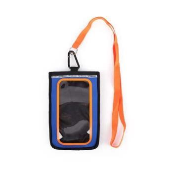 MIZUNO 手臂包-3WAY-手機包 約5.5吋螢幕適用 美津濃 慢跑 路跑 藍橘