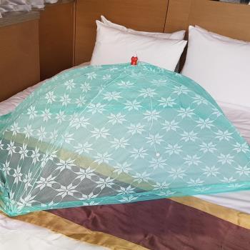 【凱蕾絲帝】台灣製造-嬰兒專用針織特多龍花紗睡簾防蚊傘型帳(4款)